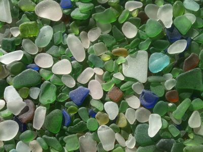 1000's of Pieces of Beach Glass Collected at Portuguese Beach Over The Years!