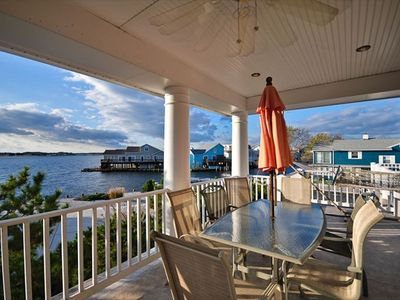 Side porch is also great for watching sunsets as you dine