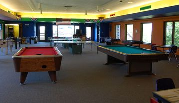 Game room is open all year round.