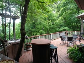 Big Canoe house photo - Outdoor kitchen any chef/grillmaster will love on huge deck just off of kitchen.