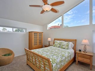 Mission Beach house photo - Luxury master suite with large ceiling fan.