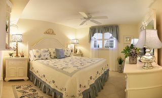 Sanibel Island condo photo - Tranquil, Luxurious Designer Decor in the Master Bedroom -Sandalfoot Unit 4B3