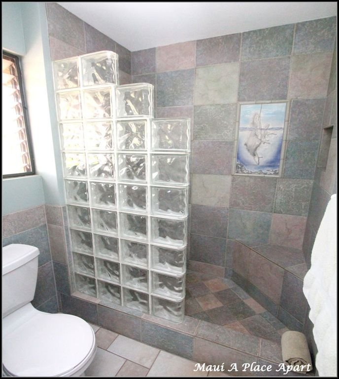 Shower from unit 6E Ekahi Village, One Bed-Two Bath, Partial Ocean View