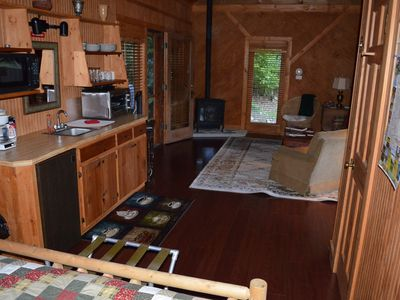 Creekside Cabin Kitchenette