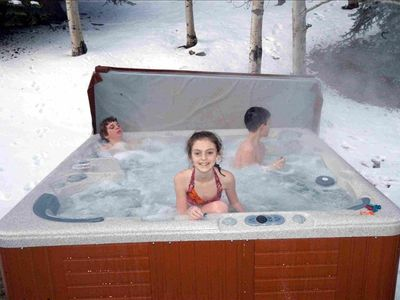 Your own large private hot tub on back porch