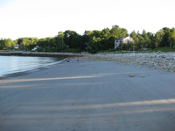 Beach Facing South In The Evening