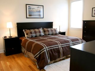 Master Bedroom with King Bed - Chicago condo vacation rental photo