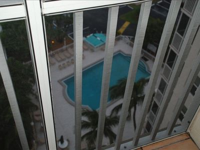 Shared pool-picture from the balcony