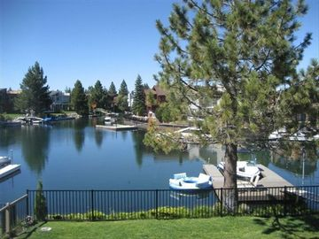 Tahoe Keys house rental - Water Views, Fenced Yard, 3 boat Dock and Large Swimming Lagoon
