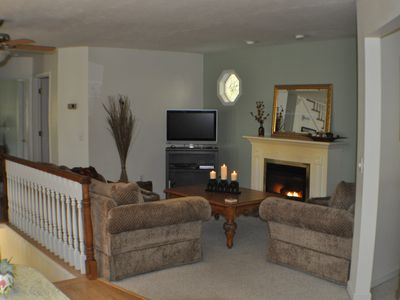 Maggie Valley house rental - Living Room with comfortable sofa and loveseat