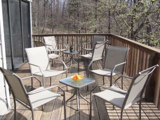 Galena house photo - Tons of room on the large deck to sit back and enjoy the Galena Territory views