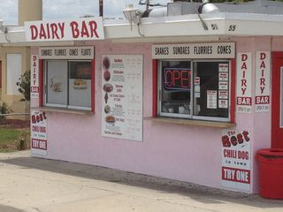 Daytona Beach house photo - The Dairy Bar, for ice cream & such (it DOES have the best chili dog in town!)