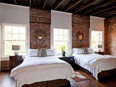 Two Queen beds & a sleeper sofa on the loft level - we do have black out shades!