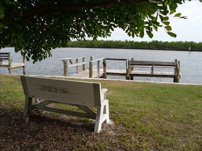 Private community fishing dock on beautiful Back Bay!