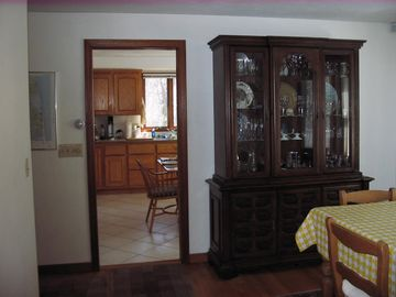 Dining Room Buffet and Hutch next to Kitchen Entrance