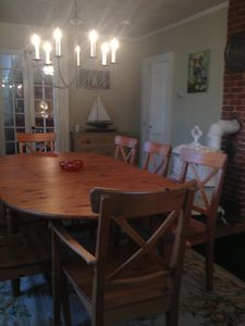 Wellfleet house rental - Formal dining room perfect for indoor entertaining during fall, winter & spring.