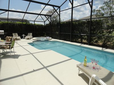 Very Private Pool and Spa with all new Cushions and all day SUNSHINE!