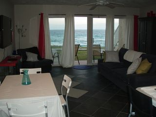 Seacrest Beach condo photo - Living Room with Sleeper Sofa and State of the Art HDTV and Blueray DVD
