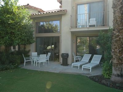 La Quinta condo rental - Relax and enjoy the mountain views from the balcony and patio.