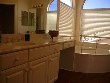 Master suite bathroom, on upper floor