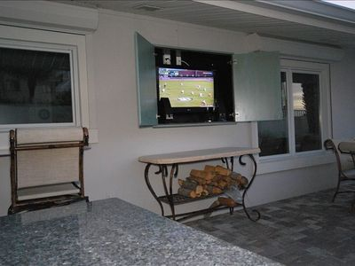 Outside Entertainment Center