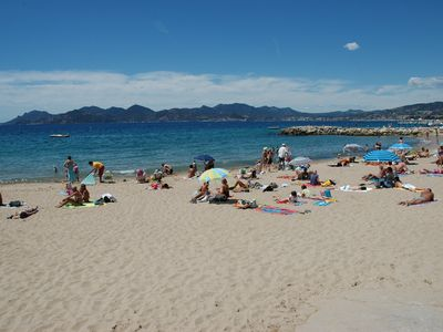 Cannes sand beaches