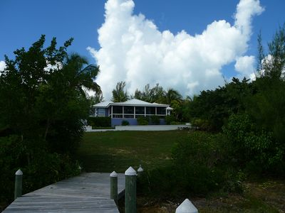 Coconut Cabana Villa rental view from your private dock on White Sound.