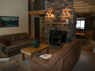 Duck Creek Village cabin photo - Living Room With Fireplace.