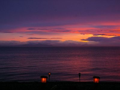 Lummi Island house rental - Beautiful sunsets to complete the end of lovely days.