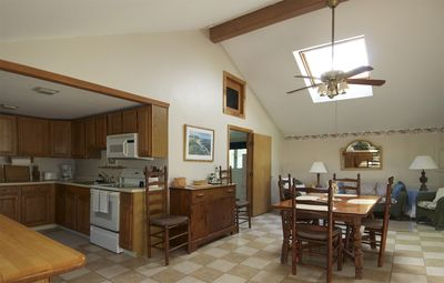 Kitchen and large dining area