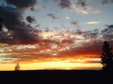 Pinetop estate rental - Sunsets from our exceptional upstairs deck overlooking the Rim.
