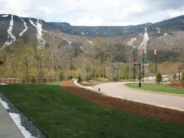 view from our patio of Mt. Mansfield