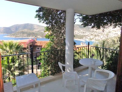 Kalkan apartment rental - Lovely balcony with sea and mountain views