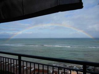 Honokowai condo photo - Amazing oceanfront condo rental views with rainbows included!