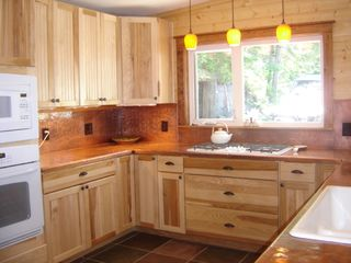 Bigfork house photo - Newly remodeled kitchen, note copper counters