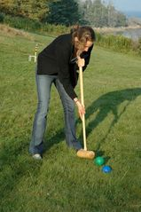 Port Clyde house photo - Activities available include croquet, boole, volleyball, soccer, and badminton