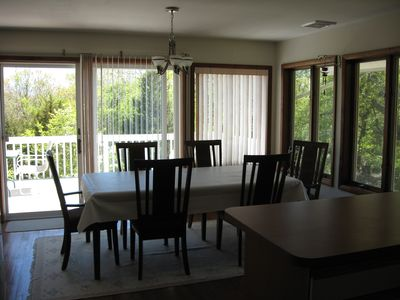 Dining room with sun deck access