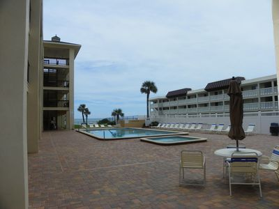 View of Adult and Kiddie Pools from Lobby