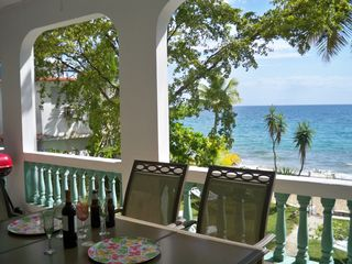 Rincon house photo - Our Porch with a Fabulous View of the backyard and beach