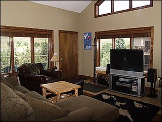 Avon townhome photo - Living Area - Large Screen TV, Plenty of Light