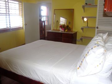 Main bedroom with adjoining bathroom/ AC