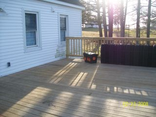 Cape Vincent house photo - Large deck that overlooks the river