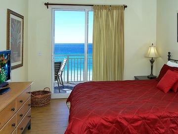 Master bedroom opens to balcony and Gulf