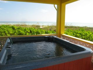 Your own private hot tub surrounded by turquoise sea! - Spanish Wells villa vacation rental photo