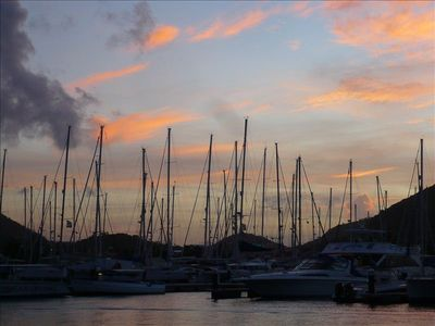 Stroll to nearby Rodney Bay Marina to watch the sailboats over a sunset drink.