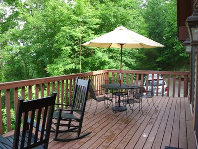 Large deck - right for a morning coffee
