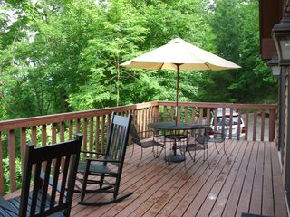 Franklin chalet photo - Large deck - right for a morning coffee