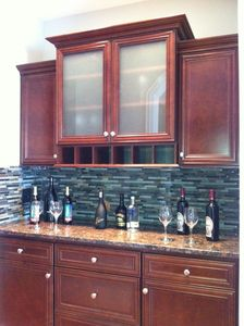 Custom built Wine Bar off of kitchen.