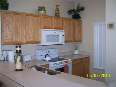 Kitchen with updated appliances, coffee maker, toaster, blender & much more!