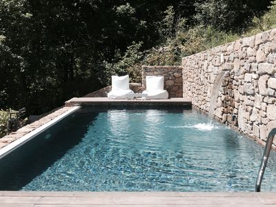 Stone house with private pool